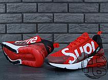 Мужские кроссовки Nike Air Max 270 Flyknit x Supreme Red/White, фото 3