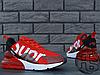 Мужские кроссовки Nike Air Max 270 Flyknit x Supreme Red/White, фото 4