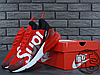 Женские кроссовки реплика Nike Air Max 270 Flyknit x Supreme Red/White, фото 5