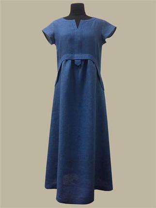 Купить ЛІТО-2019. Сукня Лотос синій от ТМ Галерея Льна в