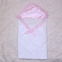 Крестильная пеленка для крестин Дана (розовая)