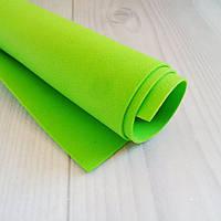 Фоамиран Китай зеленый (салатовый), 1/2 м, 1 мм
