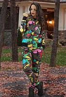 Зимний костюм цветное хаки