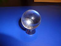 Шарик стекло прозрачный на толстой ножке  , фото 1