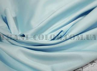 Костюмная ткань коттон мемори голубой