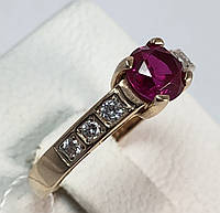 Кольцо золотое с рубином  585 проба