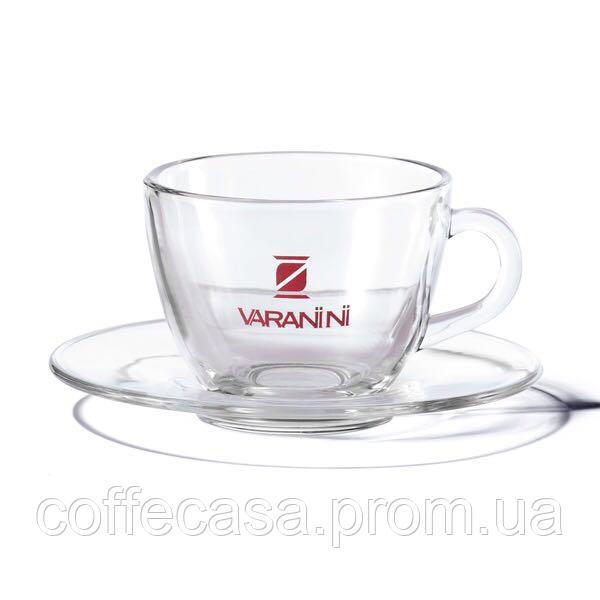 Стеклянная чашка с блюдцем Varanini Cappuccino 200 мл