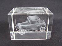 Статуэтка хрустальная голограмма Автомобиль