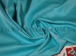 Костюмная ткань коттон мемори голубая бирюза