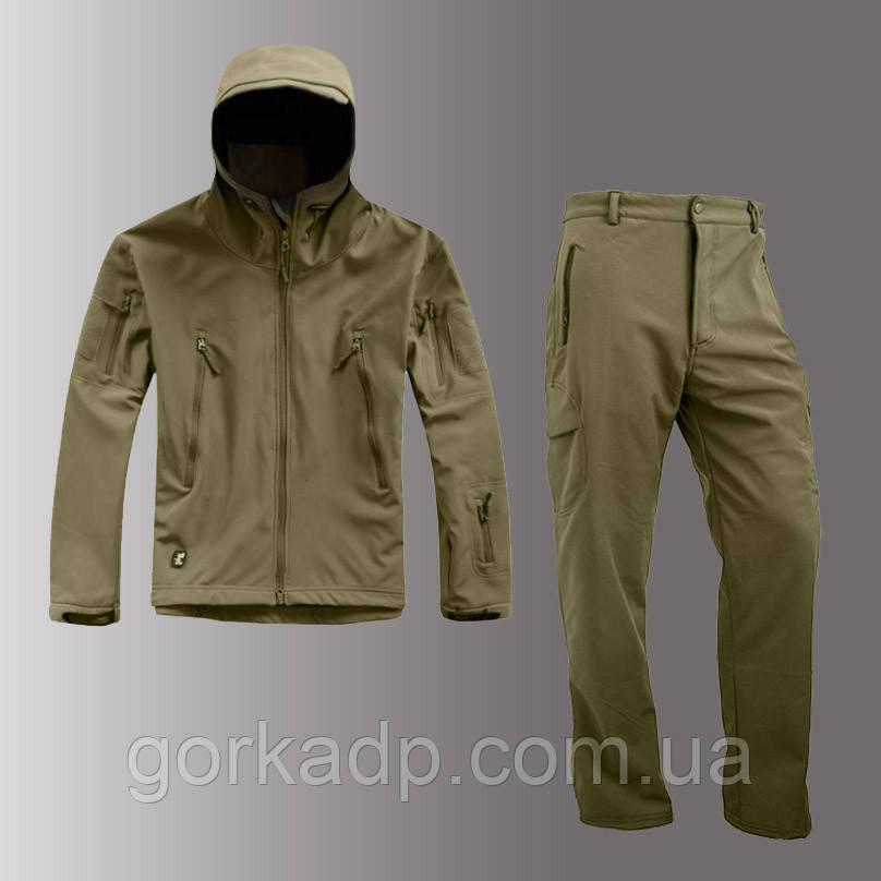 Костюм софтшел SoftShell олива, штаны + куртка