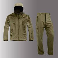 Костюм софтшел SoftShell олива, штаны + куртка, фото 1