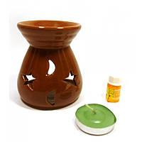 Аромалампа, свеча и масло подарочный набор