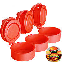 Форма для приготовления гамбургеров, котлет, бургеров Stufz Sliders Стуфц Слидер на 3 места, пресс форма