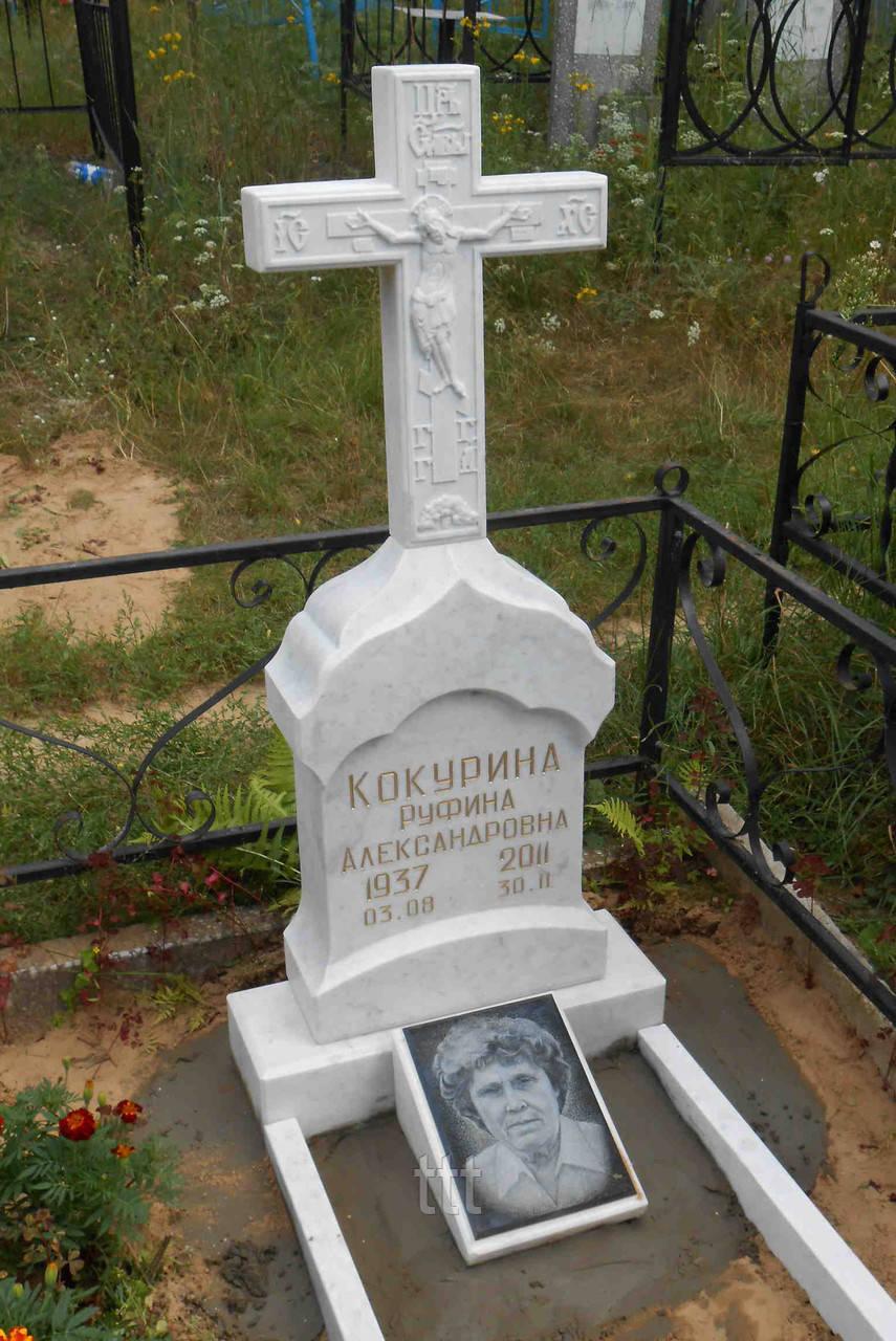 Крест надгробный из мрамора №30
