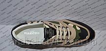 Кроссовки Женские Valentino Garavani эко-кожа на шнуровке камуфляж  Код 1336, фото 3