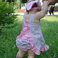 Летнее платье с трусиками Пироженка (розовое)