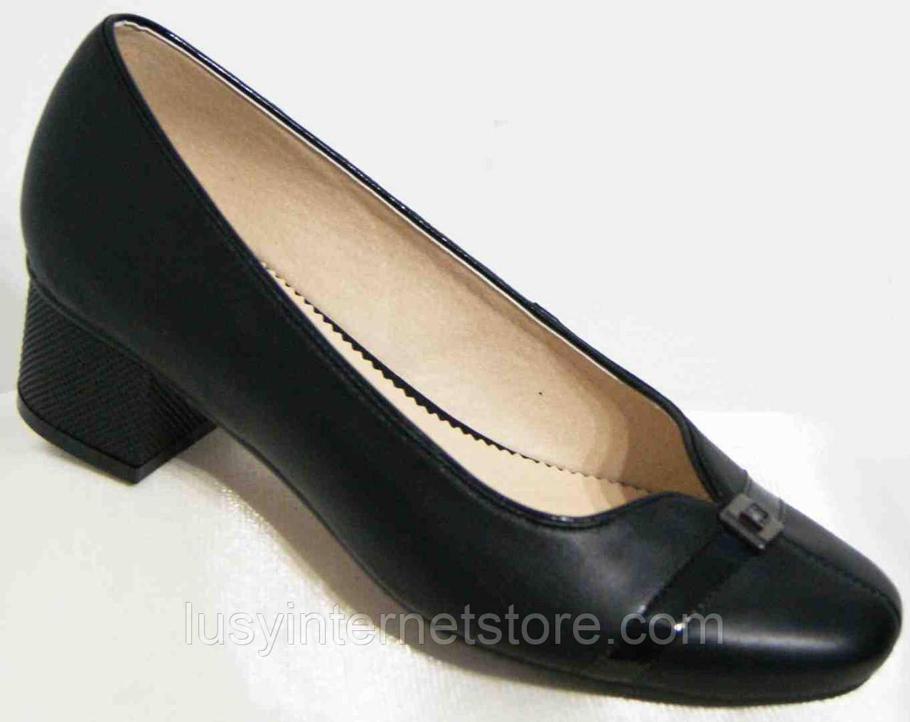 Туфли женские кожаные на каблуке, большие размеры от производителя модель  МИ929k-17 - Lusy 12302815cca