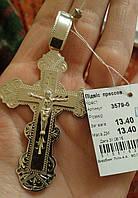 Підвіс срібний Хрест подвес крест серебрянный 3579 бел.