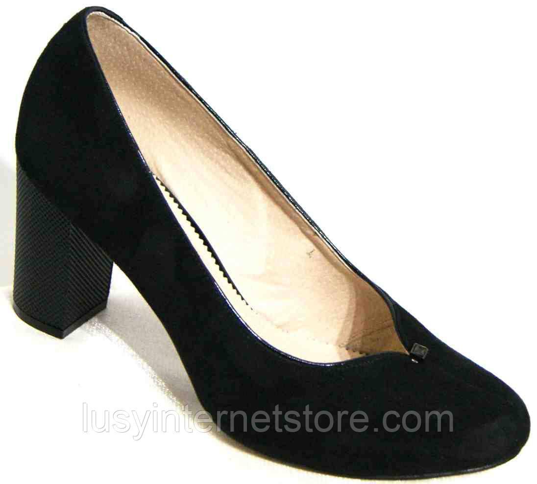 Туфли женские замшевые на каблуке, большие размеры от производителя модель  МИ3938-2b 633455ad619