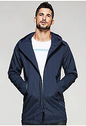 Мужская куртка ветровка с капюшоном цвета нави