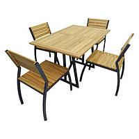 Комплект стол со стульями  Изабелла 2 (для кафе, бара, ресторана, летней площадки, сада, дачи)