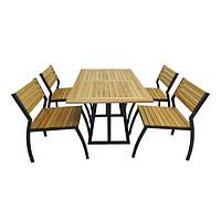Комплект стол со стульями  Изабела 2 (для кафе, бара, ресторана, летней площадки, сада, дачи)