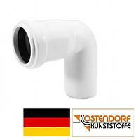Колено PP 50 х 87º внутренней канализации (белое) Ostendorf HT Германия