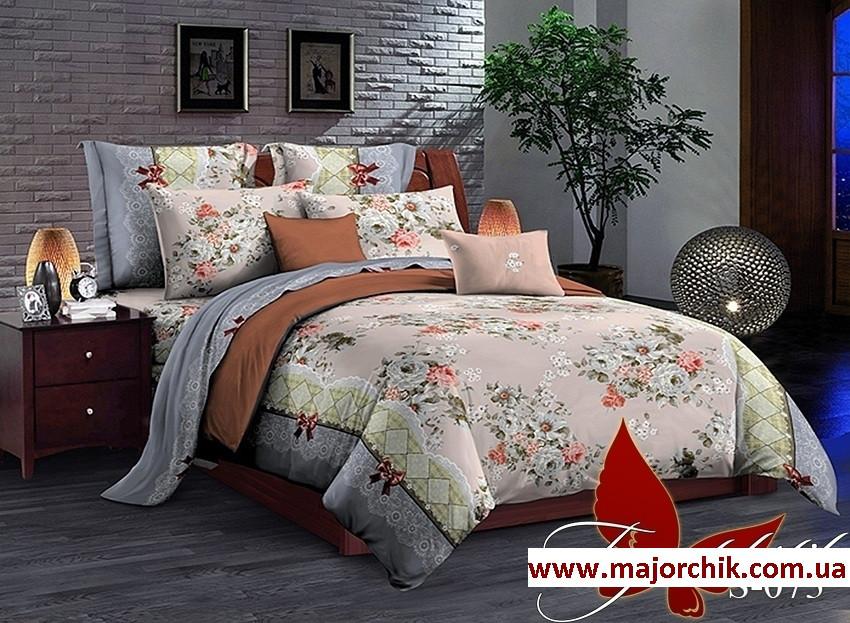 Комплект постельного белья 2-спальный сатин Цветочки