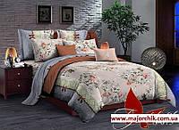Комплект постельного белья 2-спальный сатин Цветочки, фото 1