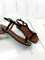 Женские босоножки Allure кожаные натуральные без каблука 0144АЛМ