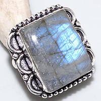 Кольцо с натуральным камнем лабрадор в серебре. Кольцо с лабрадором., фото 1
