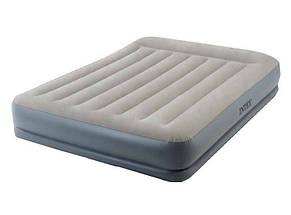 Надувная двуспальная велюровая кровать Intex 64118 со встроенным насосом, фото 2