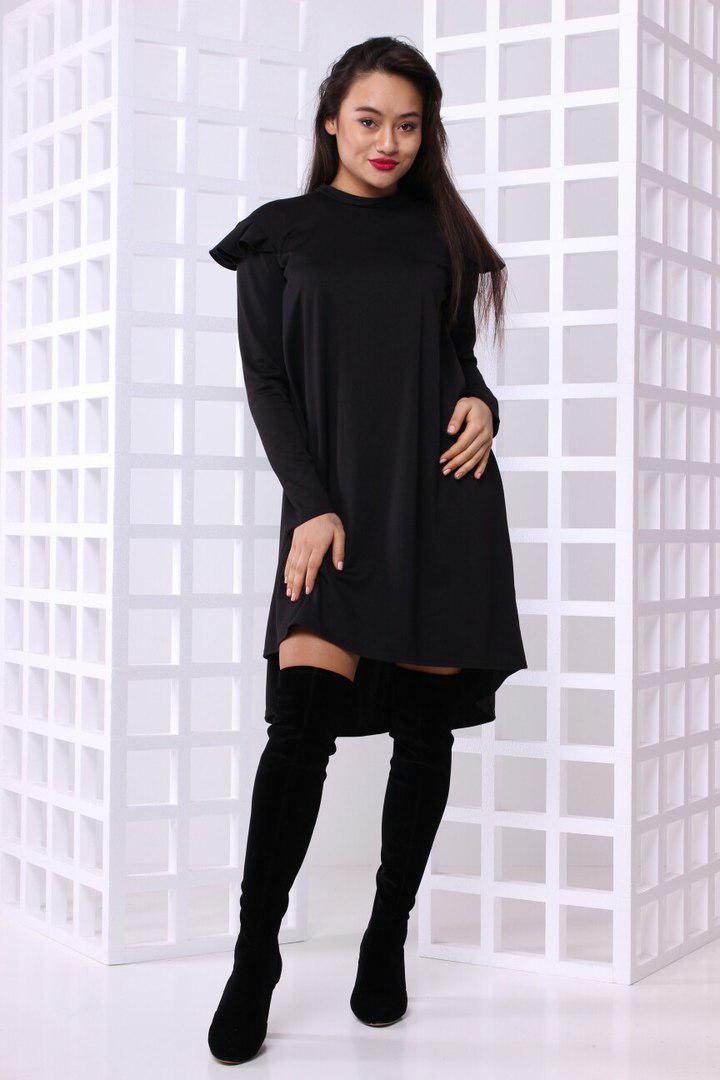 397c39f7fccc Модное женское платье асимметрия свободного силуэта - Velvet в Харькове
