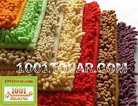 """Коврики из микрофибры """"Макароны или дреды"""" для широкого применения, 90х60 см., разный цвет"""