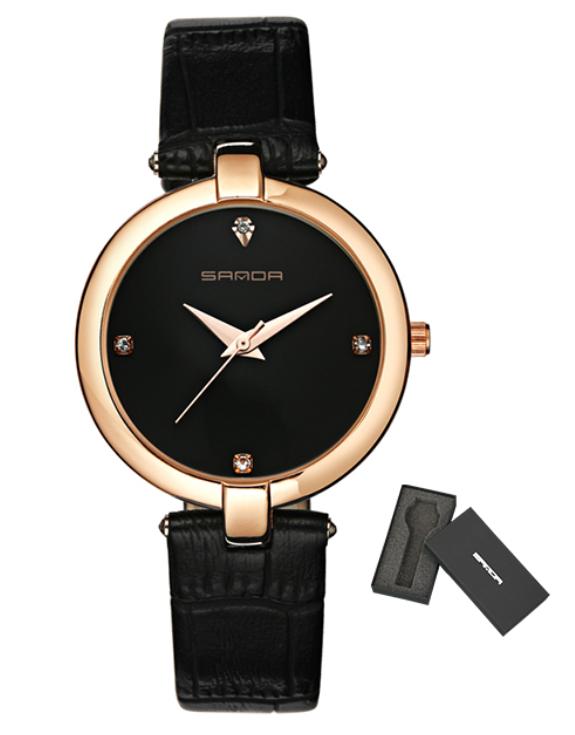Женские часы Sanda P196 Black/Black