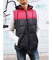 Жилет мужской, болоневый, на молнии, с тканевым капюшоном, CARBON BY RUE21