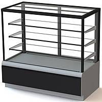 Витрина кондитерская вентилируемая ВХСв - 1,3д Carboma Cube ТЕХНО