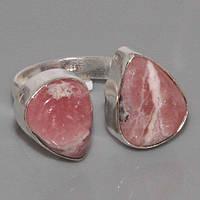 Родохрозит кольцо с натуральным родохрозитом в серебре 16.5>, фото 1
