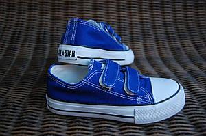 97f1d16c22c98 кеды на липучках (кроссовки) конверсы AIL STAR в стиле Converse синие (25р,