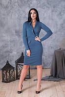Платье по фигуре нежного синего цвета