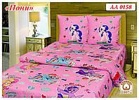 """Комплект постельного белья Тиротекс бязь """"Little Pony"""", фото 1"""