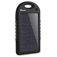 Повербанк внешний аккумулятор F-Dorla с зарядом от солнечных панелей (5000 мАч)