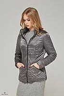 Куртка-плащ стеганая демисезонная хамелеон серый