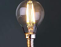 Светодиодная лампа прозрачная Filament 4Вт Е14  P45 2700K