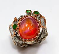 Кольцо серебро 925 пробы рубин