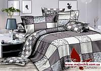 Комплект постельного белья 2-спальный сатин Шахматка