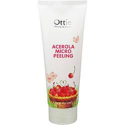 Пилинг для лица с натуральной целлюлозой и ацеролой Acerola Micro Peeling Ottie - 150 мл