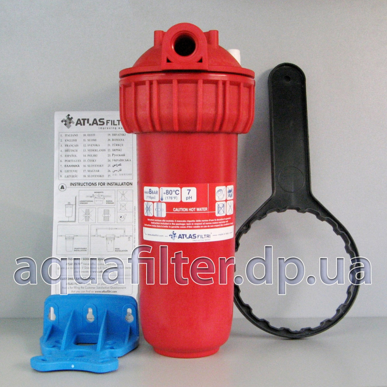 """Фильтр грубой очистки для горячей воды Atlas Senior Plus HOT 3P 3/4"""""""
