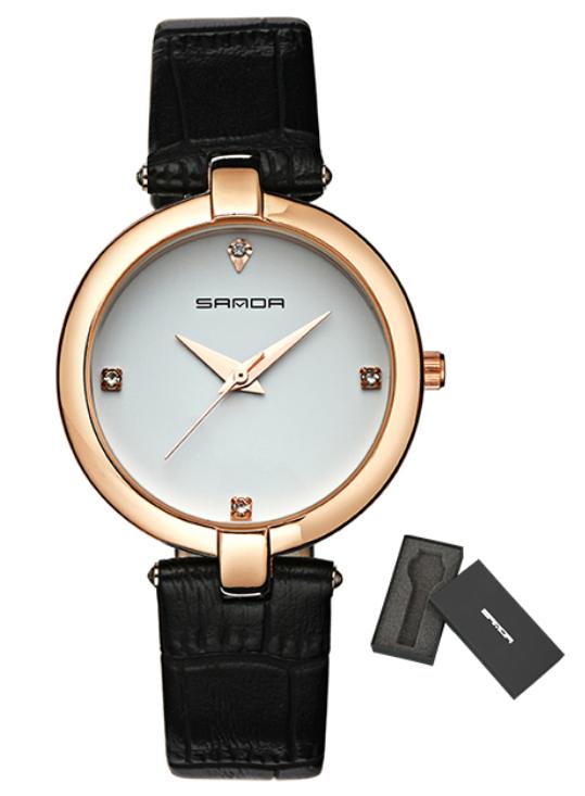 Женские часы Sanda P196 Black/White