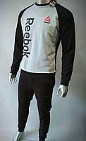 Мужской спортивный костюм весна-осень двунитка (цвет черный) оптом